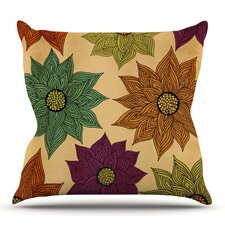 Amazing Color Me Floral by Pom Graphic Design Outdoor Throw Pillow