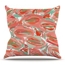 Go Left by Matthias Hennig Outdoor Throw Pillow