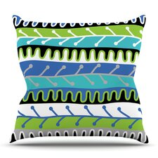 Salsa by Jacqueline Milton Outdoor Throw Pillow