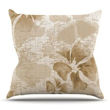 Flower Power by Catherine Holcombe Outdoor Throw Pillow