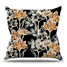 Crocus by Gill Eggleston Outdoor Throw Pillow