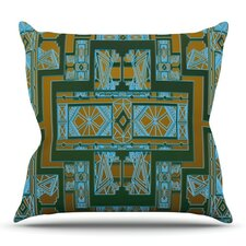 Art Deco by Nika Martinez Outdoor Throw Pillow