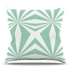 Read Reviews Starburst Mint by Project M Outdoor Throw Pillow