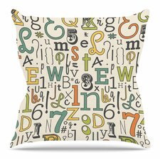 Spacial Price ABC by Busy Bree Outdoor Throw Pillow