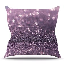 Lavender Sparkle by Debbra Obertanec Outdoor Throw Pillow