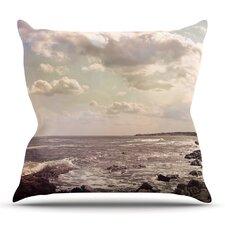 Rocky Coast by Debbra Obertanec Outdoor Throw Pillow