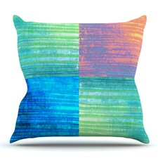 Crayon Batik by Nina May Outdoor Throw Pillow