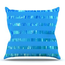 Wet Wild Stripes by Rosie Brown Outdoor Throw Pillow