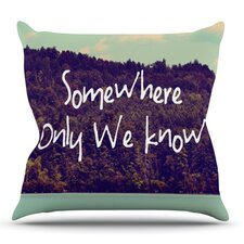 Somewhere by Rachel Burbee Outdoor Throw Pillow