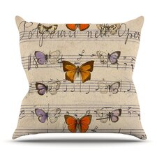Amazing Butterfly Opera by Suzanne Carter Outdoor Throw Pillow