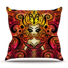 She Devil Full by Mandie Manzano Outdoor Throw Pillow