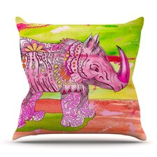 Pretty in Pink by Catherine Holcombe Outdoor Throw Pillow