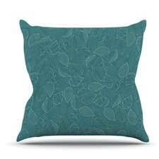 Autumn Leaves by Emma Frances Outdoor Throw Pillow