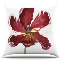 Open Tulip by Lydia Martin Outdoor Throw Pillow