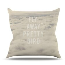 Bargain Fly Away Pretty Bird by Catherine McDonald Outdoor Throw Pillow