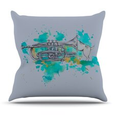 Hunting For Jazz by Kira Crees Outdoor Throw Pillow