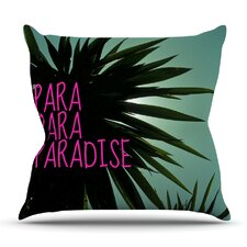 Exotic Paradise by Nika Martinez Outdoor Throw Pillow