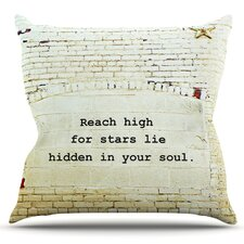 2017 Sale Reach High by Robin Dickinson Outdoor Throw Pillow