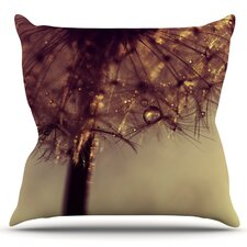 Best Choices Droplets of Gold by Ingrid Beddoes Outdoor Throw Pillow