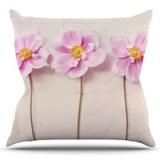 Anemone Trio by Sylvia Cook Outdoor Throw Pillow