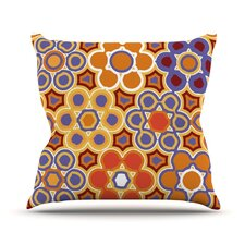 Flower Garden Outdoor Throw Pillow