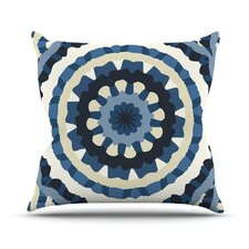 Ribbon Mandala Outdoor Throw Pillow