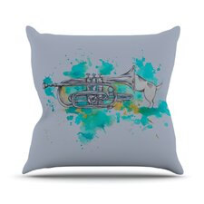 Hunting for Jazz Outdoor Throw Pillow
