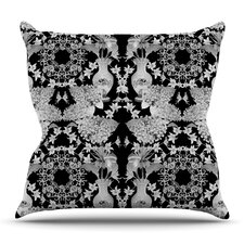 Versailles Black by DLKG Design Outdoor Throw Pillow