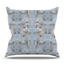 Versailles Blue by DLKG Design Outdoor Throw Pillow