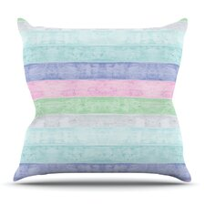 Beach Wood Pastel by Monika Strigel Outdoor Throw Pillow