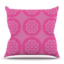 Moroccan Pink by Nicole Ketchum Outdoor Throw Pillow