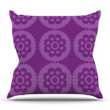 Moroccan Purple by Nicole Ketchum Outdoor Throw Pillow