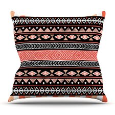 Mojave Black by Skye Zambrana Outdoor Throw Pillow