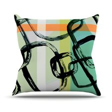 Fresh Sixties by Theresa Giolzetti Outdoor Throw Pillow