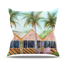 Wonderful McT on Sanibel Outdoor Throw Pillow