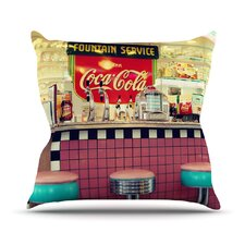 Retro Diner Outdoor Throw Pillow