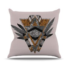 Indian Feather Outdoor Throw Pillow