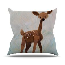 Oh Deer Outdoor Throw Pillow