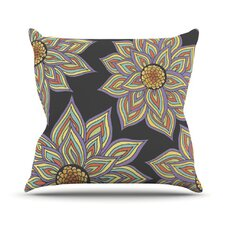 Floral Rhythm by Pom Graphic Design Outdoor Throw Pillow