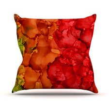 Fall Splatter Outdoor Throw Pillow