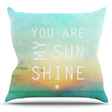 You Are My Sunshine by Alison Coxon Outdoor Throw Pillow