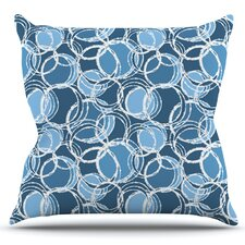 Simple Circles by Julia Grifol Outdoor Throw Pillow