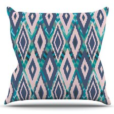 Tribal Ikat by Nika Martinez Outdoor Throw Pillow