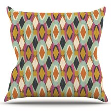 Fresh Sequoyah Ovals by Amanda Lane Outdoor Throw Pillow