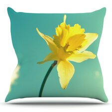 Daffodil by Robin Dickinson Outdoor Throw Pillow