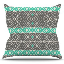 Going Tribal by Pom Graphic Design Outdoor Throw Pillow