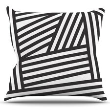 Discount Stripes by Louise Machado Outdoor Throw Pillow