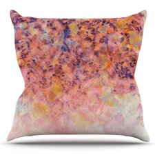 No Copoun Blushed Geometric by Nikki Strange Outdoor Throw Pillow