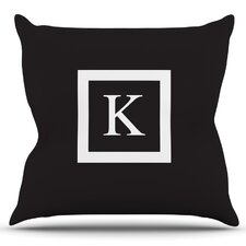 Monogram Original Outdoor Throw Pillow