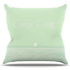 Carpe Diem by Robin Dickinson Outdoor Throw Pillow